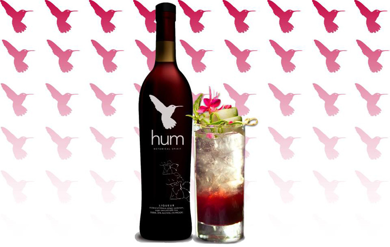 Hum Botanical Liqueur is a pot still rum infused with hibiscus, ginger root, green cardamom and kaffir lime