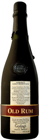 Gosling's Family Reserve Old Rum is distilled from fermented molasses