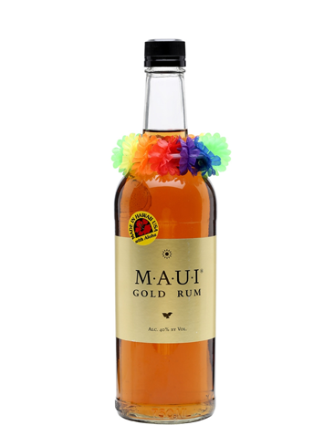 Maui Gold Rum has the color and taste of caramel, as well as a hint of vanilla
