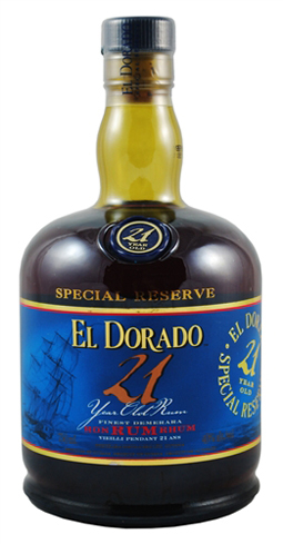 El Dorado 21 Year Old Special Reserve Rum has sweet and light aromas