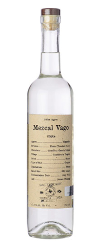 Mezcal Vago Elote has an aroma of smoky corn and earth