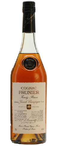 Prunier Family Reserve Cognac is rich and aromatic, with notes of toffee and espresso