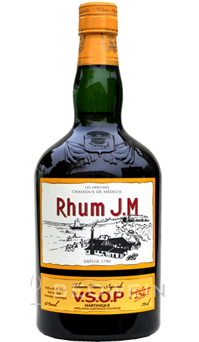 Rhum J.M V.S.O.P. is a complex sipping rum from Martinique with flavors of cinnamon, ginger and grass