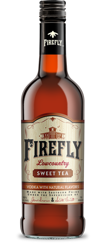 Firefly Original Sweet Tea Flavored Vodka is great over ice with pink lemonade