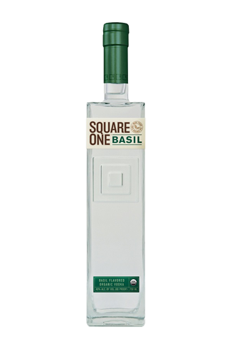 Square One Basil Vodka is made from 100-percent American rye