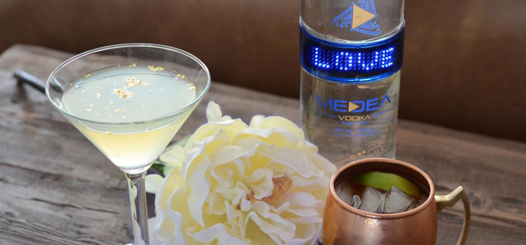 Medea Vodka sports an interactive LED light-up bottle