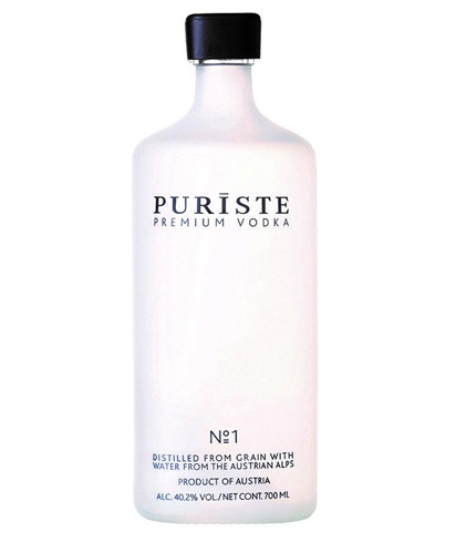PURISTE vodka is made using fresh spring water from the Austrian Alps