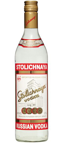 Stoli is made with wheat and rye