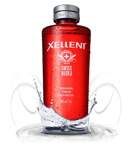 Xellent Vodka is from Switzerland