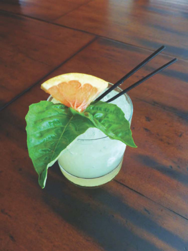 Hailing from Austin, Texas, the Green River blends Green Chartreuse, citrus and vodka for a refreshing drink