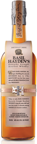 Basil Hayden's has aromas of citrus, spice and peppermint