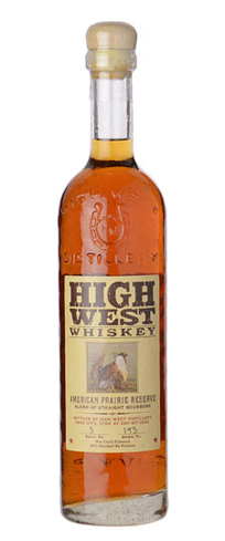High West American Prairie Reserve is an amber blend of straight bourbons bottled in Park City, Utah