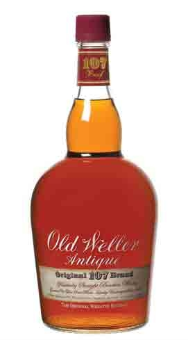 Old Weller 107 Antique is a wheated bourbon that balances sweet and heat
