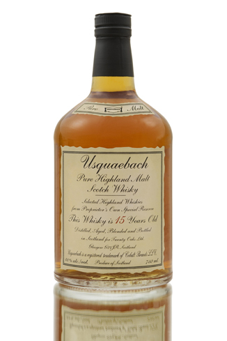Usquauebach 15 Year Old has flavors of vanilla and caramel