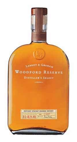 Woodford Reserve Kentucky Straight Bourbon Whiskey is dry and somewhat fruity on the tongue