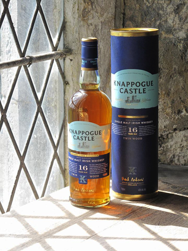 Knappogue Castle 16-Year-Old Single Malt Irish Whiskey is aged in both bourbon and sherry casks
