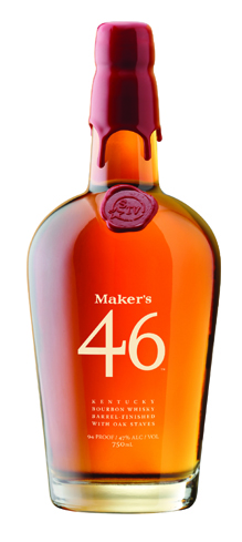 Maker's 46 Kentucky Bourbon Whisky has caramel and vanilla flavors