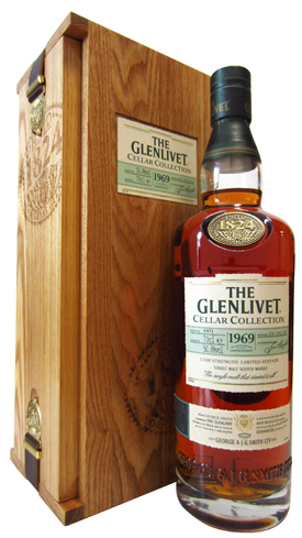 The Glenlivet Cellar Collection 1969 features a velvety texture with flavors of sweet orange and a touch of oak