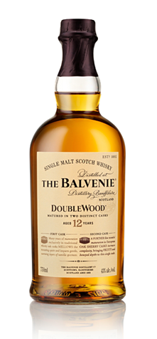 The Balvenie DoubleWood 12 Year Old boasts flavors of heather, honey and clean barley and is one of GAYOT's Top 10 Single Malt Scotch Whiskies