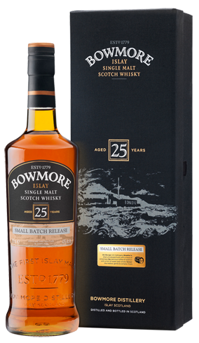 Bowmore 25 Year Old comes from Islay, Scotland, and is elegant and smoky