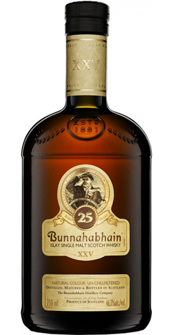 Bunnahabhain 25 Year Old is remarkably balanced, showing little of its heat from the 46.3 percent alcohol by volume
