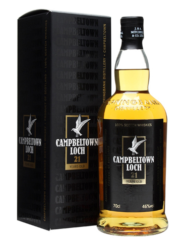Campbeltown Loch 21 Year Old has aromas of toasted marshmallow and vanilla