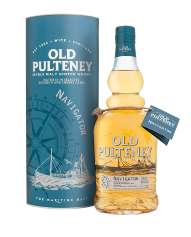 Old Pulteney Navigator Single Malt Scotch Whiksy is dubbed the maritime malt