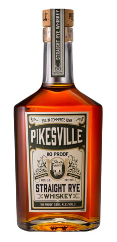 Pikesville Straight Rye Whiskey is aged for six years and has flavors of vanilla and baking spices