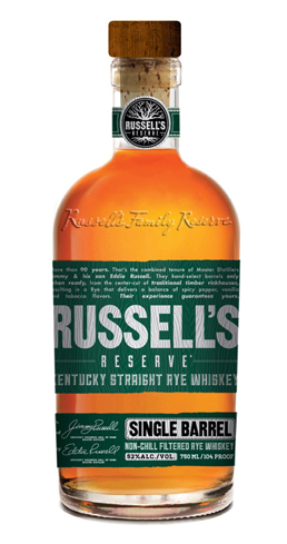 Russell's Reserve Rye has an aroma that hints of vanilla and allspice