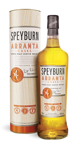 Speyburn Arranta Casks Single Male Scotch features aromas of toffe, honey and baking spices