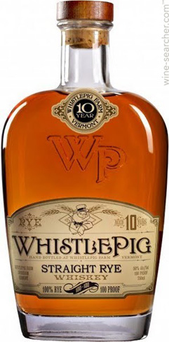 WhistlePig 10-Year Straight Rye Whiskey is made by Master Distiller Dave Pickerell from Maker's Mark