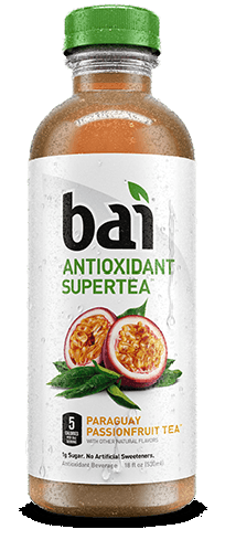 Bai tea contains 5 calories and 1 gram of sugar per serving