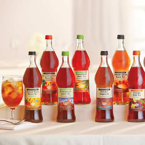 Republic of Tea's iced teas are brewed with dried fruit instead of fruit juice