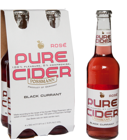 Possmann Pure Cider Rose is a blend of apple and black currant