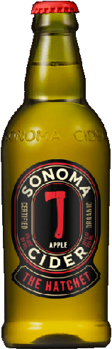 Sonoma Cider The Hatchet is made from freshly squeezed organic apples