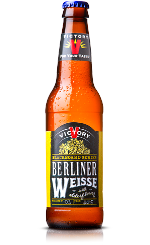 Victory Berliner Weisse with Elderflower has a floral and spicy aroma