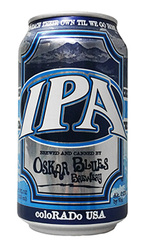 Oskar Blues IPA has a strong, fresh juiciness