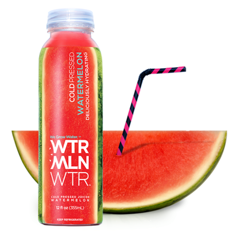 Juice up with Wtrmln Wtr, the refreshing water made from watermelon and lemon juice.