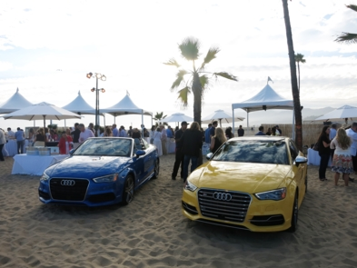 Two Audis displayed at An Evening On The Beach