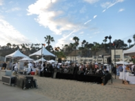 The setup on Santa Monica Beach for An Evening On The Beach