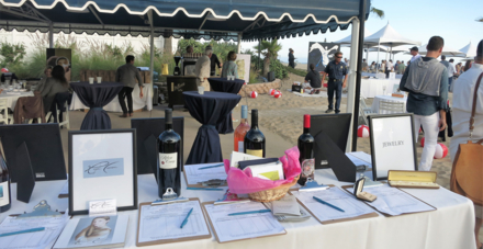 The silent auction at An Evening On The Beach