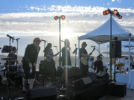 A band singing at An Evening On The Beach