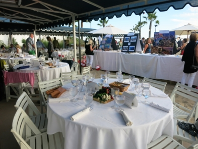 Tables provided to lounge and taste the morsels from An Evening On The Beach