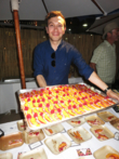 Jonathan Grahm of Compartes Chocolatier with Seasonal Fresh Fruits