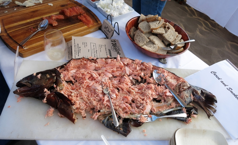 Smoked fish from chek Micah Wexler of Wexler's Deli