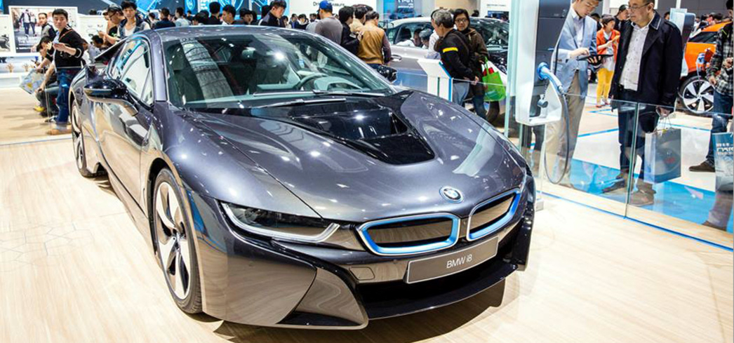 A BMW on display during the Auto Shanghai Show