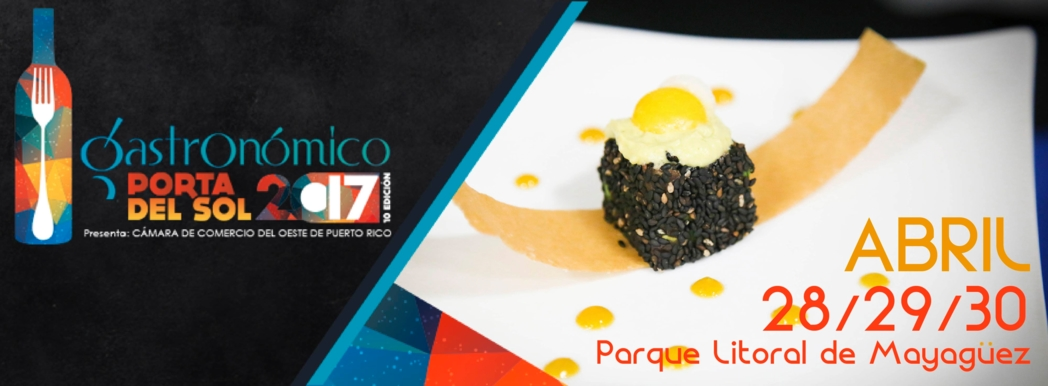 Puerto Rican delicacies on display during the Porta del Sol Gastronomic Festival
