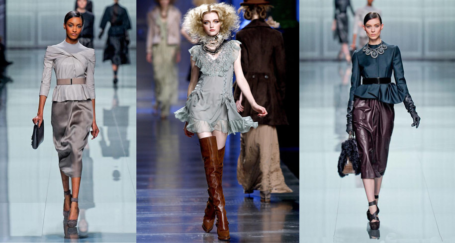 A collection of Christian Dior Fall/Winter ensembles from 2010 and 2012