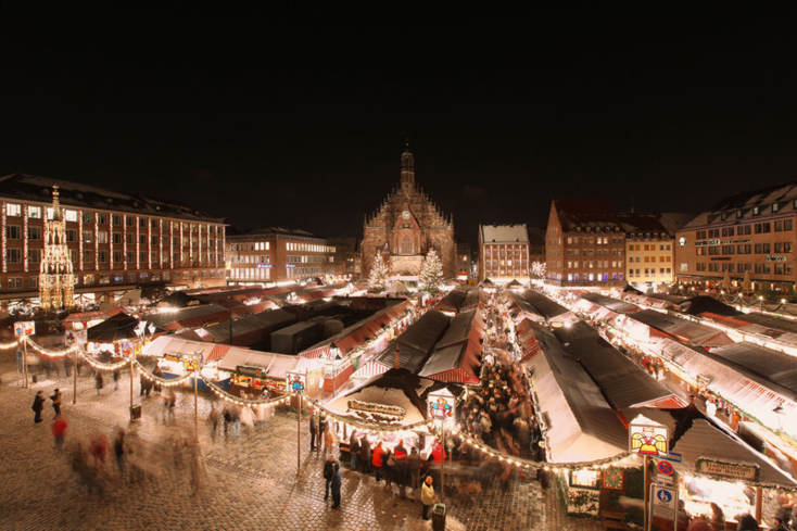 A birds-eye view of the Nuremberg Christmas Market