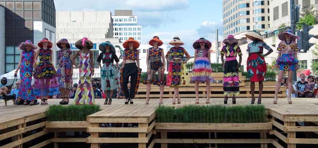 A fashion show at the Festival Mode and Design Montreal